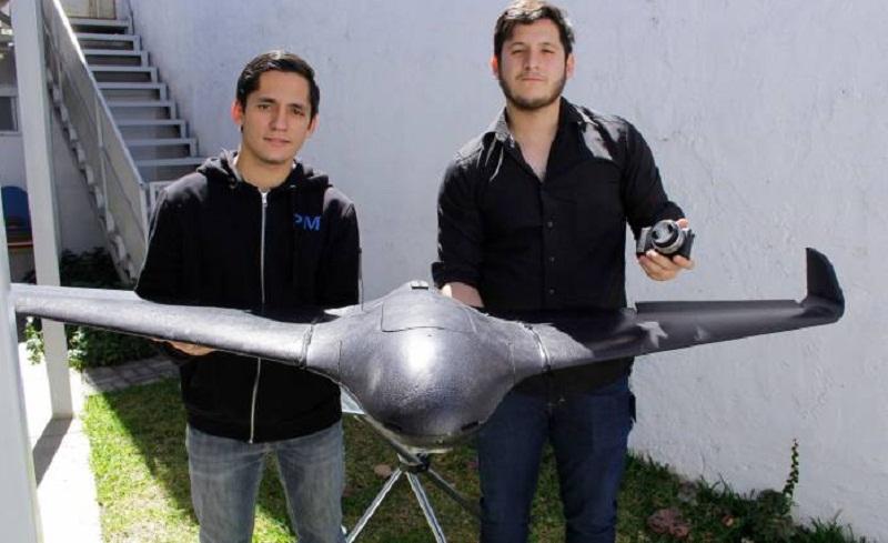 El dron diseñado por Inbright también es capaz de detectar plagas en los cultivos. (conacytprensa.mx)
